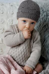 Lisa F Baby Cakes BC100 Everleigh Sweater and Hat Knitting Pattern
