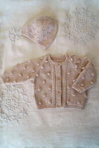 Lisa F  Baby Cakes BC90 Bowie Cardi and Hat