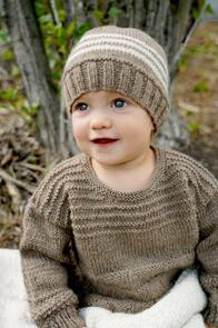 Lisa F Baby Cakes BC104 Kennedy Sweater and Hat Knitting Pattern