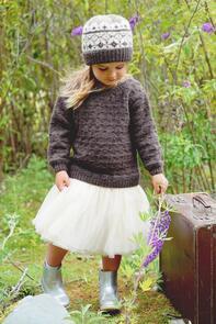 Lisa F  Little Cupcakes LF37 Avery Sweater and Hat Knitting Pattern