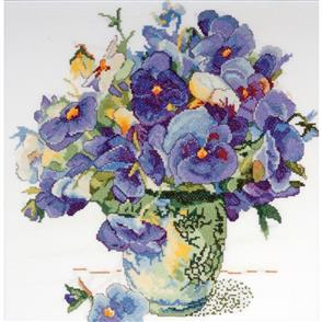 Design Works  Cross Stitch Kit: Pansy Floral