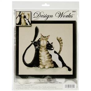 Design Works  Cross Stitch Kit: Kitty Trio