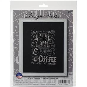 Design Works  Cross Stitch Kit: Love Chalkboard