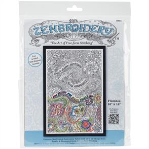 """Design Works Zenbroidery Stamped Embroidery - Dream 10"""" x 16"""""""