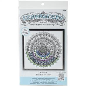"""Design Works Zenbroidery Stamped Embroidery - Mandala 10"""" x 10"""""""
