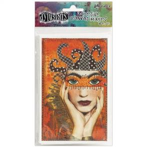 Ranger Ink  Dyan Reaveley's Dylusions - Adhesive Canvas - Set #1