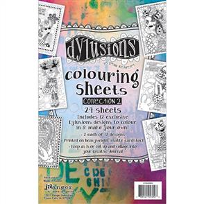 "Ranger Ink  Dyan Reaveley's Dylusions Coloring Sheets 5""X8"" - Collection 3"