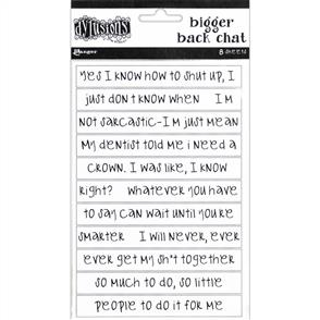 Ranger Ink Dyan Reaveley's Dylusions Bigger Back Chat Stickers - White