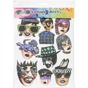 "Ranger Ink  Dyan Reaveley's Dylusions Collage Sheets 8.5""X11"" 24/Pkg - Set 1"