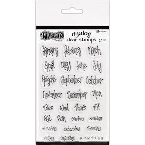 """Ranger Ink Dyan Reaveley's Dylusions Clear Stamps 4""""X8"""" - Blind Date"""