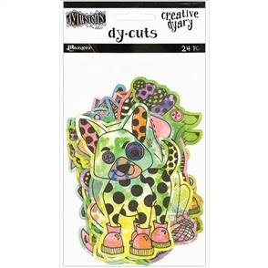 Ranger Ink  Dylusions Creative Dyary Die Cuts - Colored Animals