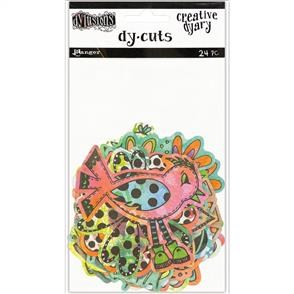 Ranger Ink  Dylusions Creative Dyary Die Cuts - Colored Birds & Flowers