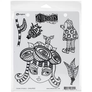 """Ranger Ink Dyan Reaveley's Dylusions Cling Stamp Collections 8.5""""X7"""" - Crown of Roses"""