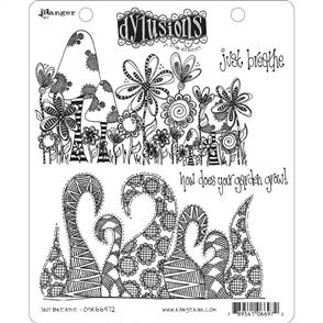 """Ranger Ink Dyan Reaveley's Dylusions Cling Stamps 8.5""""X7"""" - Just Breathe"""