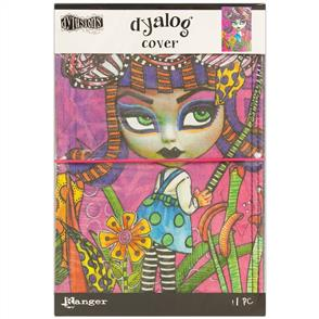 """Ranger Ink  Dylusions Dyalog Canvas Printed Cover 5""""X8"""" Believe"""
