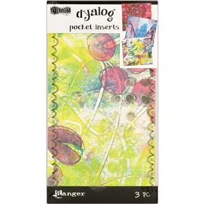 Ranger Ink Dyan Reaveley's Dylusions Dyalog Printed Pocket Inserts 3/Pk