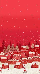 Makower Scandi Double Border - 2363 - Christmas - Red