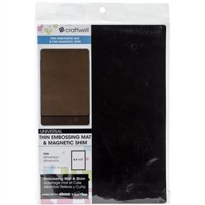 "Craftwell Embossing Mat & Magnetic Shim - Thin 8.5""X12"""