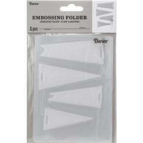 Darice Embossing Folder - Pennants