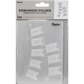 Darice Embossing Folder - Thank You Banner
