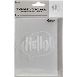 Darice  Embossing Folder - Hello