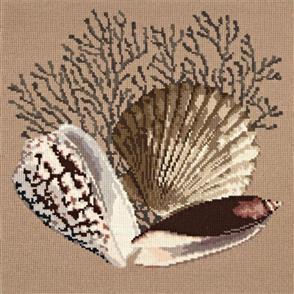 Elizabeth Bradley Tapestry Kit - Fan Coral (Sand Background Wool)