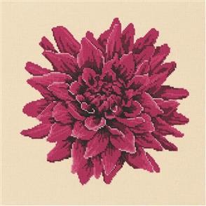 Elizabeth Bradley Tapestry Kit - Dahlia (Cream Background Wool)