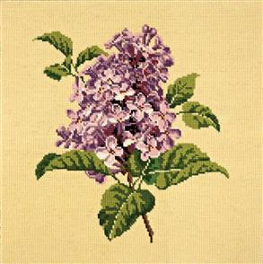 Elizabeth Bradley Tapestry Kit - Lilac (Butter Yellow Background Wool)