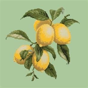 Elizabeth Bradley Tapestry Kit - Lemons (Pale Green Background)
