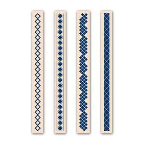 Tattered Lace  Embossing Folders 4/pk - Diamond Set