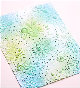 Memory Box Embossing Folder: Chrysanthemum