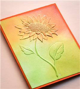 Memory Box  Embossing Folder: Magnificent Sunflower
