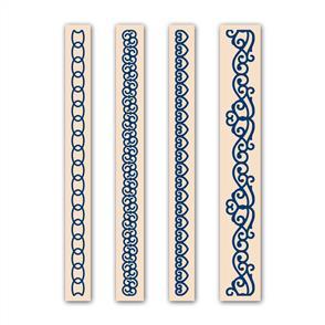 Tattered Lace  Embossing Folders 4/pk - Curve Set