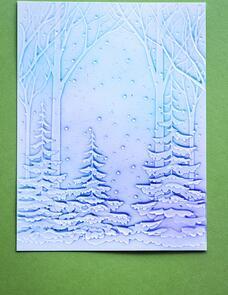 Memory Box Snowy Forest 3D Embossing Folder