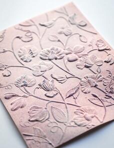 Memory Box Blooming Sweet Pea 3D Embossing Folder