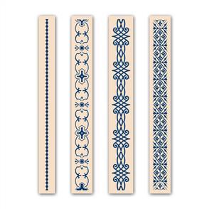 Tattered Lace  Embossing Folders 4/pk - Ornamental Set