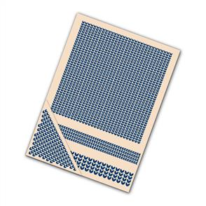 Tattered Lace  Embossing Folders 4/pk - Knitted