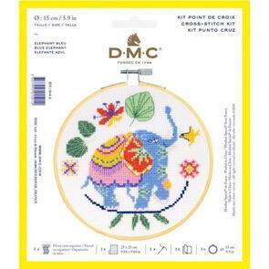 DMC Cross Stitch Kit - Blue Elephant