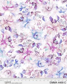 """P & B Textiles Emma - 4400 - Purple - Floral - 108"""" (274cm)"""