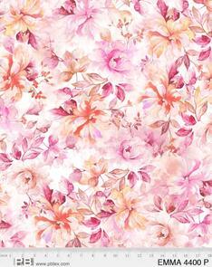"""P & B Textiles Emma - 4400 - Pink - Floral - 108"""" (274cm)"""