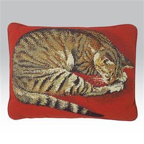 Ehrman Tapestry Kit - Naxos Cat on Red
