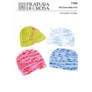 Filatura Di Crosa  Pattern F1026 Four Baby Hats