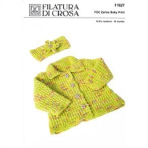 Filatura Di Crosa  Pattern F1027 Jacket and Head Band