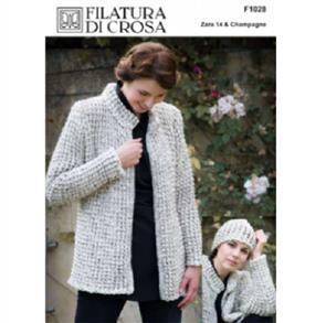 Filatura Di Crosa Pattern F1028 - Marl Jacket & Hat