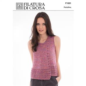 Filatura Di Crosa  Pattern F1051 Top with Overlapping Fronts