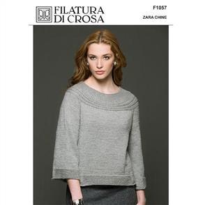 Filatura Di Crosa Pattern F1057 Caterina Top-Down Pullover