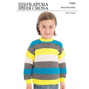 Filatura Di Crosa Pattern F1072 Texture and Stripes Jumper