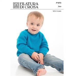 Filatura Di Crosa  Pattern F1073 Easy Raglan Pullover