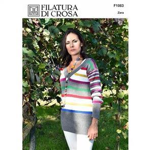 Filatura Di Crosa Pattern F1083 Striped Pullover