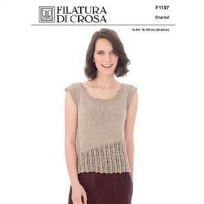 Filatura Di Crosa Pattern F1107 Top with Lace Edge
